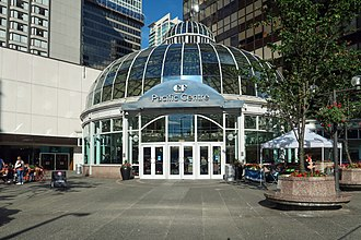 Pacific Centre - The exterior of the grand atrium of CF Pacific Centre.