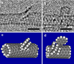 Carbon nanotube chemistry - Image: CNT functionalization TEM2