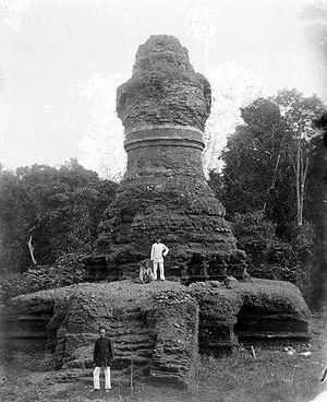 Muara Takus - The ruin of Muara Takus stupa in 1933