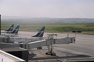 WestJet - WestJet Airlines at Calgary International Airport.