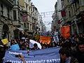 Cabecera manifestación estudiantil en Istika, Estambul, Turquía, abril de 2011.JPG