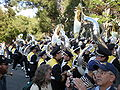 Cal Band en route to Memorial Stadium for 2008 Big Game 11.JPG