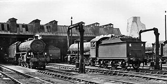 Cambridge railway station - Cambridge Locomotive Depot 2 October 1960