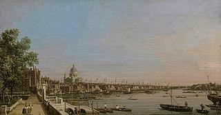 La Tamise depuis la terrasse de Somerset House, vers St. Paul