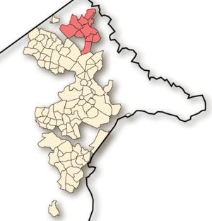 Gungahlin - Location of Gungahlin, shaded.