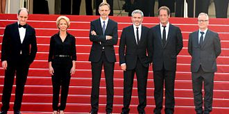 The Measure of a Man (2015 film) - Cast and crew at the 2015 Cannes Film Festival.
