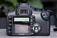 Back of Canon EOS 350D camera