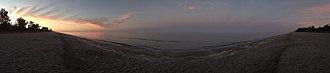 Captiva, Florida - Panoramic of Captiva beach at sunrise