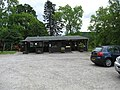 Car park and cafe at Inverawe Country Park - geograph.org.uk - 1356823.jpg