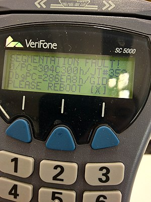 Segmentation fault - Segmentation fault on an EMV keypad