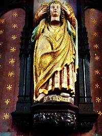 Carhaix 37 Eglise Saint-Trémeur Statue de saint Trémeur.jpg