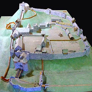 Carisbrooke Castle - A reconstruction of Carisbrooke Castle during the 14th century
