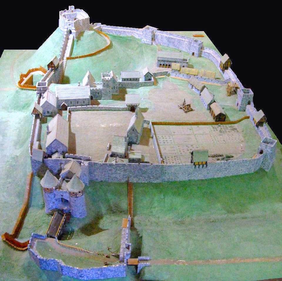 Carisbrooke Castle 14th century