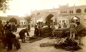 Azerbaijani rug - The rug trade in Ganja, Azerbaijan in the late 19th century.