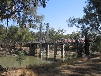 Murrumbidgee River - Bridge over the Murrumbidgee at Carrathool, New South Wales.