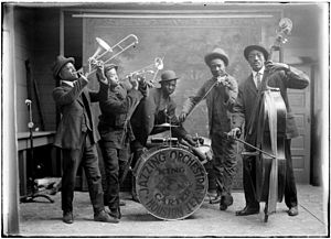 Jazz Age - Carter and King Jazzing Orchestra in 1921 (picture taken in Houston, Texas)
