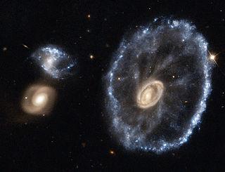 Cartwheel Galaxy A lenticular galaxy and ring galaxy in the constellation Sculptor