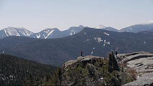 Cascade Mountain (New York) - Image: Cascade vue sur big slide