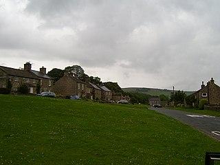 Castle Bolton Village in North Yorkshire, England