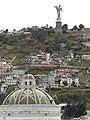 Catedral Metropolitana, A cool view from the Roof deck (Palacio de Pizarro), Historic Center of Quito, pic.r2 Panoramics views of El Panecillo, Quito.jpg