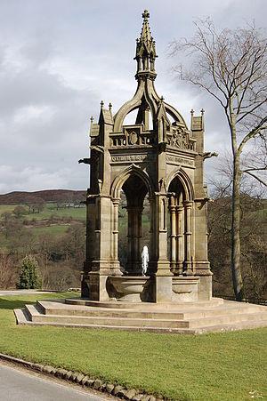 Cavendish memorial fountain - Image: Cavendish Memorial, Bolton Abbey geograph.org.uk 747970