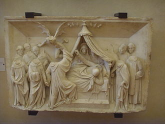 Benedetto Grazzini - Panel from the sarcophagus of St. John Gualbert, Museum of San Salvi, Florence.