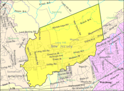 Census Bureau map of Long Hill Township, New Jersey