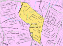 Census Bureau map of Rochelle Park, New Jersey