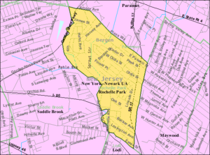 Rochelle Park, New Jersey - Image: Census Bureau map of Rochelle Park, New Jersey