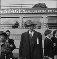 Centerville, California. Irrigator, who, with 595 persons of Japanese ancestry, is leaving this rur . . . - NARA - 537553.tif