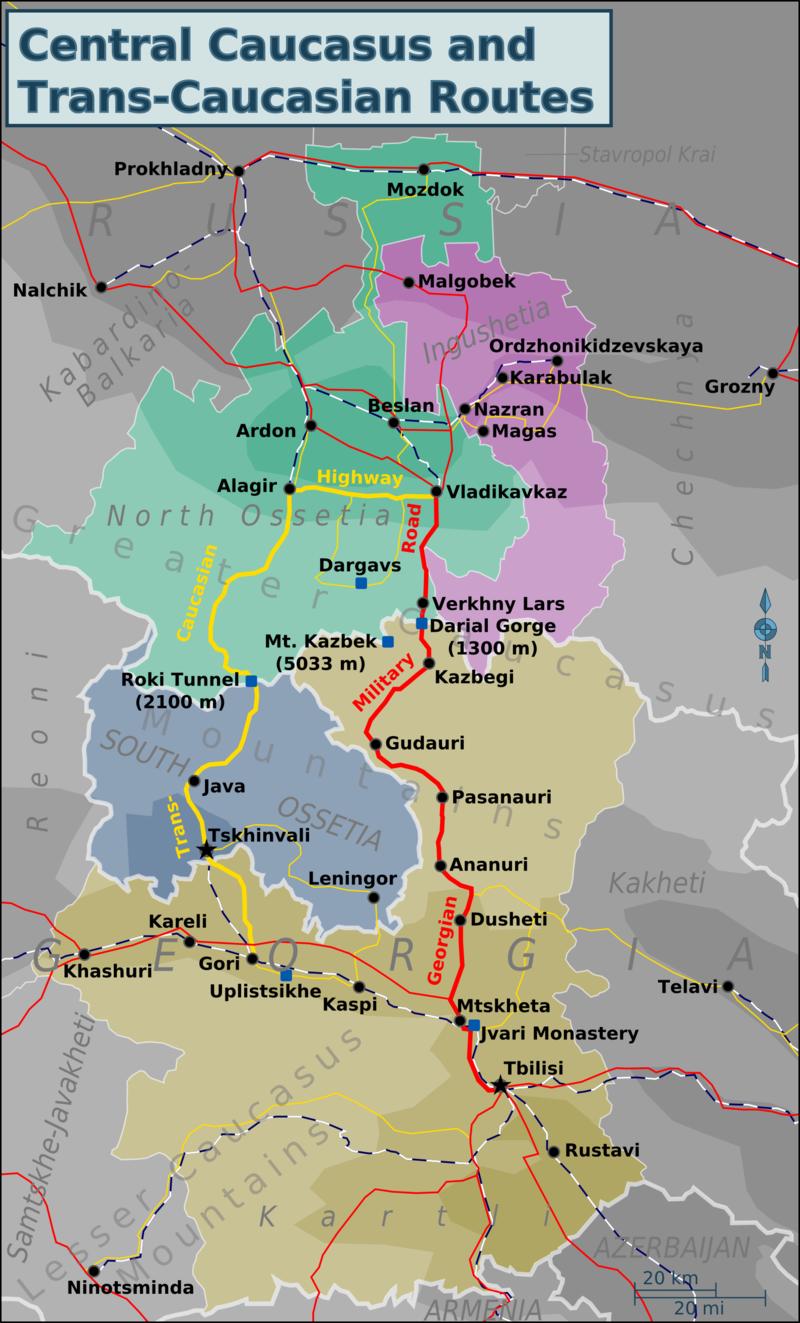 Kazbegi And The Georgian Military Highway Green Goulash - Georgia kazbegi map
