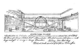 Centrifugal railway - A detailed sketch of a centrifugal railway in Manchester
