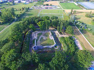 Rouelbeau Castle - Rouelbeau Castle, aerial view
