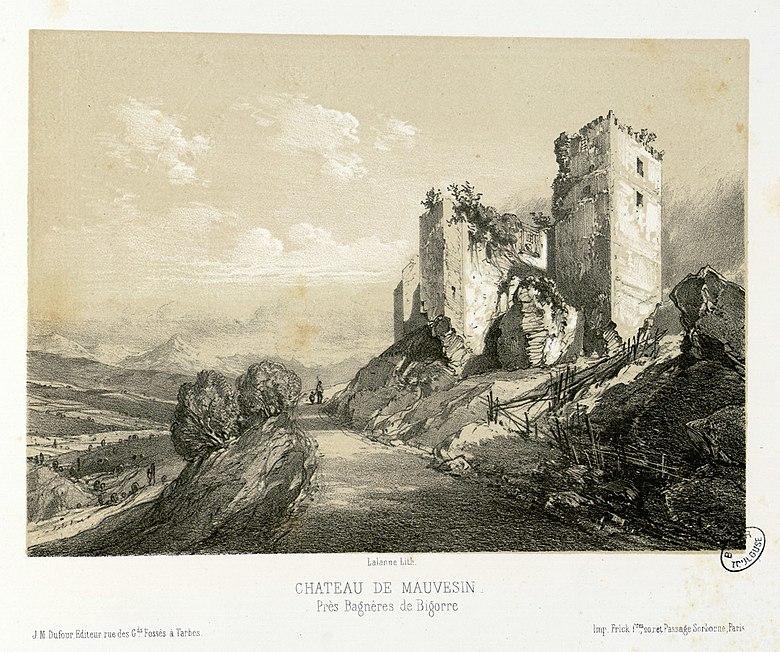 File:Château de Mauvesin, près Bagnères de Bigorre - Fonds Ancely - B315556101 A LALANNE 2 031.jpg