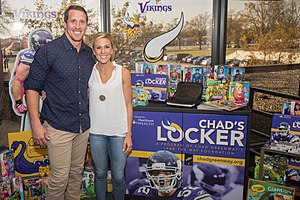 Chad Greenway - 7th Chad's Locker - Hutchinson Health  Chad's Locker is an electronic hub that provides access to iPads, laptops, Leap Frog Readers, DVDs, games and other electronics to patients and their families. In addition to the entertainment devices, Chad provided toys, coloring supplies, dolls, action figures, and board games.