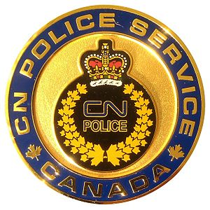 CN Police - Challenge coin for Canadian officers