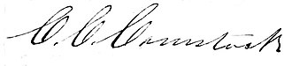 Charles C. Comstock - Charles C. Comstock's signature