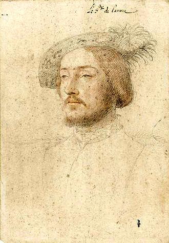 Charles de Cossé, Count of Brissac - Pencil portrait, heightened with colour, Le sr. de lanoue(Musée Condé, Chantilly)