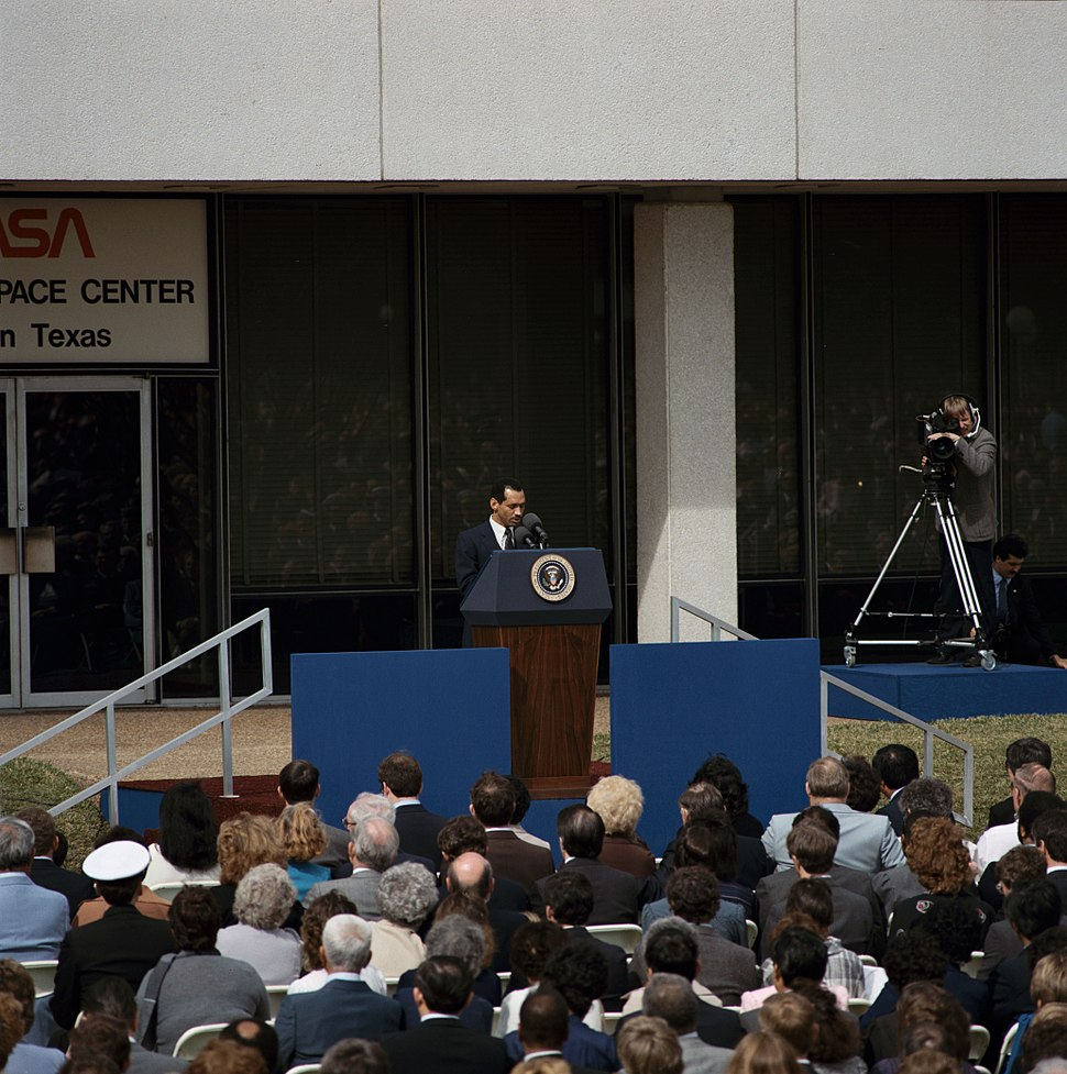 Charles Bolden at STS 51-L Memorial service - 1986