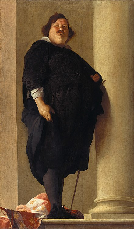 During the Middle Ages and the Renaissance obesity was often seen as a sign of wealth, and was relatively common among the elite: The Tuscan General Alessandro del Borro , attributed to Charles Mellin, 1645 Charles Mellin (attributed) - Portrait of a Gentleman - Google Art Project.jpg
