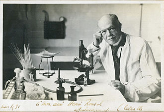 Charles Nicolle - Image: Charles Nicolle at microscope