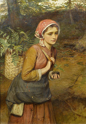 Pteridomania - Charles Sillem Lidderdale: The fern gatherer, 1877