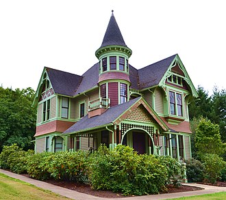 George Franklin Barber - The Charles and Anna Drain House (Drain Castle), built in Drain, Oregon between 1893 and 1895.