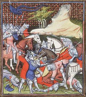 Battle of La Roche-Derrien - Another version of Charles de Blois being taken prisoner