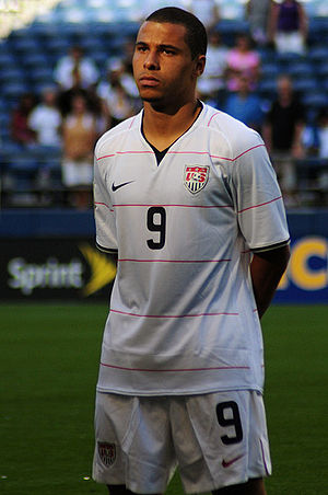 Photo of soccer player, Charlie Davies.