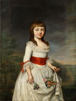 Duchess Charlotte Frederica of Mecklenburg-Schwerin - Charlotte Frederica painted by Lisiewski during childhood as a Mecklenburgish duchess