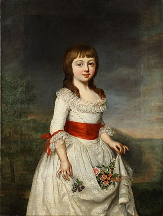 Duchess Charlotte Frederica of Mecklenburg-Schwerin - Charlotte Frederica painted by Lisiewski during her childhood.