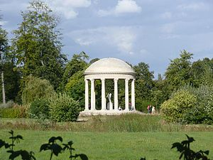 French landscape garden - Temple d'amour created for Marie Antoinette and the Jardin de la reine at Versailles