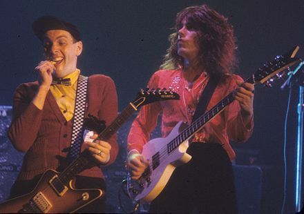 Nielsen and Petersson performing in 1977 CheapTrick1977.jpg