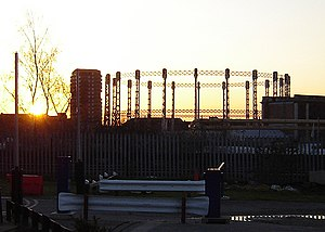 Gas Light and Coke Company - Gasholder of the former Imperial Gasworks, pictured in 2006